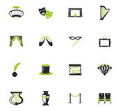 Theater icons set. Theater  icon set for web sites and user interface Royalty Free Stock Photos