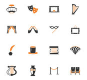 Theater icons set. Theater  icon set for web sites and user interface Stock Photo