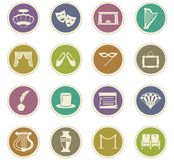 Theater icons set. Theater  icon set for web sites and user interface Stock Photos