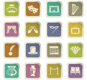 Theater icons set. Theater icon set for web sites and user interface Royalty Free Stock Photography