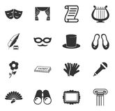 Theater icons set Stock Image