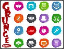 Theater icons set. Theater symbol icons for user interface design Stock Photo