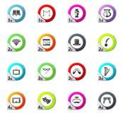 Theater icons set. Theater web icons for user interface design Royalty Free Stock Photos