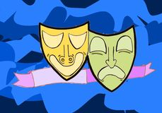 Theater. An image of theatre mask Royalty Free Stock Photo
