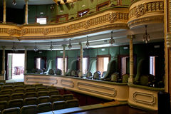 Theater interior. Recently restored. The building was built between 1899-1901. It was projected by an italian architect, baroque style. It is still in use. This Stock Image