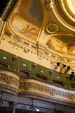 Theater interior. Recently restored. The building was built between 1899-1901. It was projected by an italian architect, baroque style. It is still in use. This Stock Images