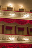 Theater interior. Two circles with lamps Royalty Free Stock Images