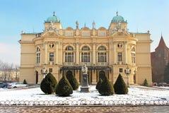 Theater in Krakau, Polen Royalty-vrije Stock Foto's
