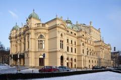 Theater Krakau - Slowacki - Polen Stock Afbeelding