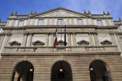 Theater La Scala in Milan Royalty Free Stock Images