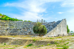 Theater of Letoon. The theatres in Lycian cities are a fine example of cultural development of civilization, Letoon, Turkey Stock Image