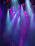 Theater Lights. Colored theater lights during a concert Stock Photography