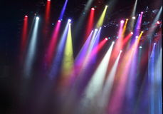 Theater Lights. Colored theater lights during a concert Royalty Free Stock Images