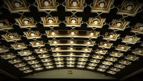 Theater lights and architectural design cinema. Cinema theater lights royalty free stock photos