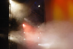 Theater lights with smoke Stock Image
