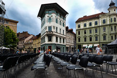 A theater in ljubljana Royalty Free Stock Photography