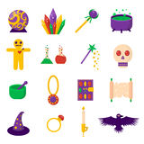 Theater magic icon set trick star surprise entertainment collection wizard vector illustration. Royalty Free Stock Images