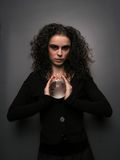 Theater MakeUp - Witch. Lady With MakeUp and Crystal Ball stock image