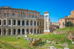 The theater of Marcellus Rome stock image