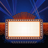 Theater Marquee. Bright detailed theater marquee ready for your text Royalty Free Stock Image