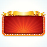 Theater Marquee. Luxury Vector Sign Stock Image
