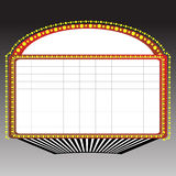 Theater marquee sign. Classic blank neon sign on gradient background Royalty Free Stock Photo