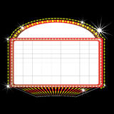 Theater marquee sign. Illustration of a theater marquee sign Royalty Free Stock Photography