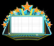 Theater marquee sign. Illustration of a theater marquee sign Royalty Free Stock Photo