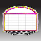 Theater marquee sign. Illustration of a theater marquee sign Royalty Free Stock Photos