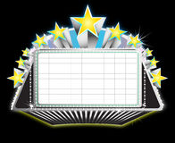 Theater marquee sign. Illustration of a theater marquee sign Stock Photos
