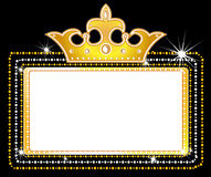 Theater marquee sign Royalty Free Stock Photos