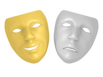 Theater mask Stock Images