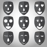 Theater mask emotion set  Stock Images
