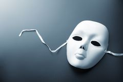 Theater mask on grey Royalty Free Stock Photo