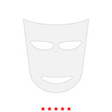 Theater mask it is icon . Stock Image