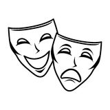 Theater mask isolated icon Stock Image
