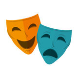 Theater mask isolated icon Royalty Free Stock Images