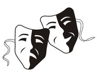 Theater Mask - Tragedy Comedy Royalty Free Stock Photo