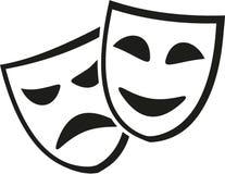 Theater maskiert Ikone vektor abbildung