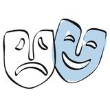 Theater masks vector Royalty Free Stock Photography
