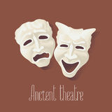 Theater masks for ancient theater vector illustration Royalty Free Stock Photo
