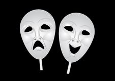 Theater masks of drama and comedy Royalty Free Stock Photography