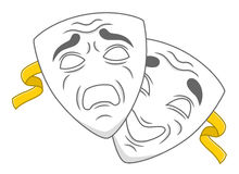 Theater masks Royalty Free Stock Image