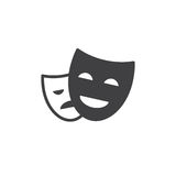 Theater masks icon vector, filled flat sign, solid pictogram isolated on white. Symbol, logo illustration. Pixel perfect Stock Photos