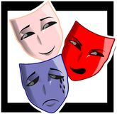 Theater masks on abstract background Stock Image