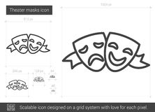 Theater masks line icon. Stock Photography