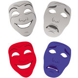 Theater masks sad and happy Royalty Free Stock Photography