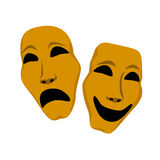 Theater masks - sadness and laughing Royalty Free Stock Photo