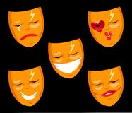 Theater Masks Set Royalty Free Stock Photo