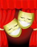 Theater Masks symbols Stock Photos